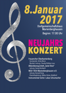 Plakat Neujahrskonzert 2017